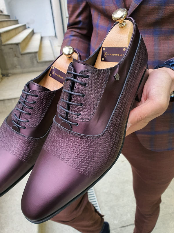 Patterned Claret Shoes