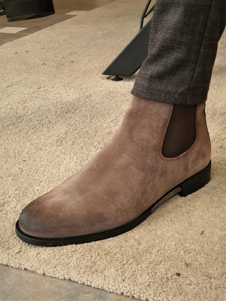 Mink Chelsea Boots
