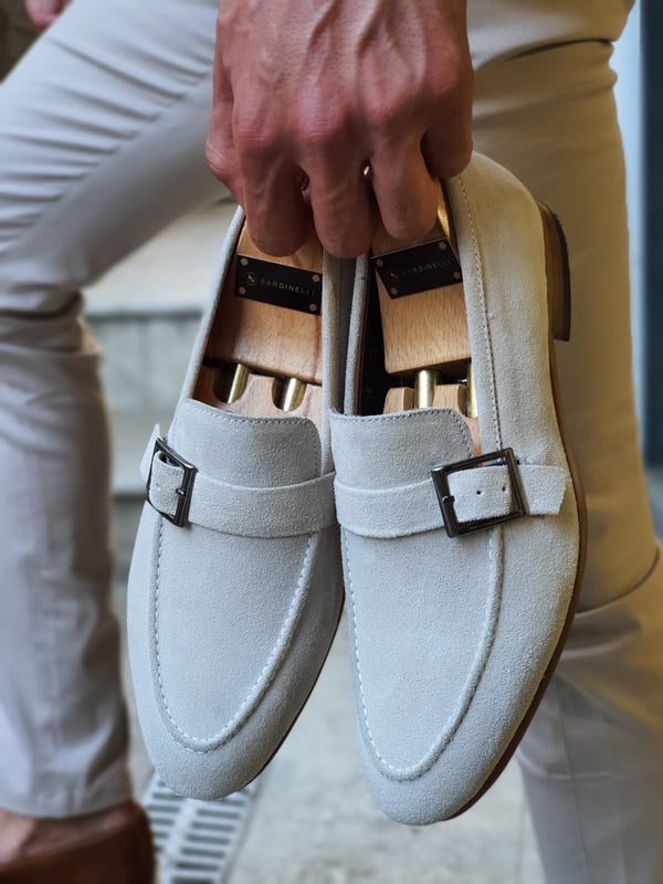 Beige Suede Leather Shoes