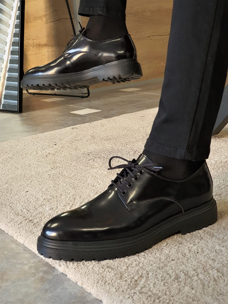 Calf Leather Black Shoes