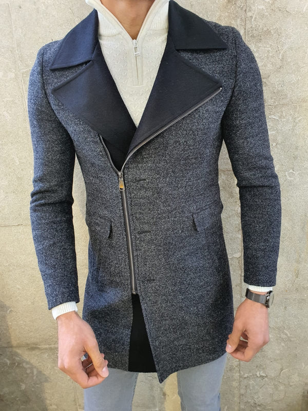 Anthracite Wool Coat