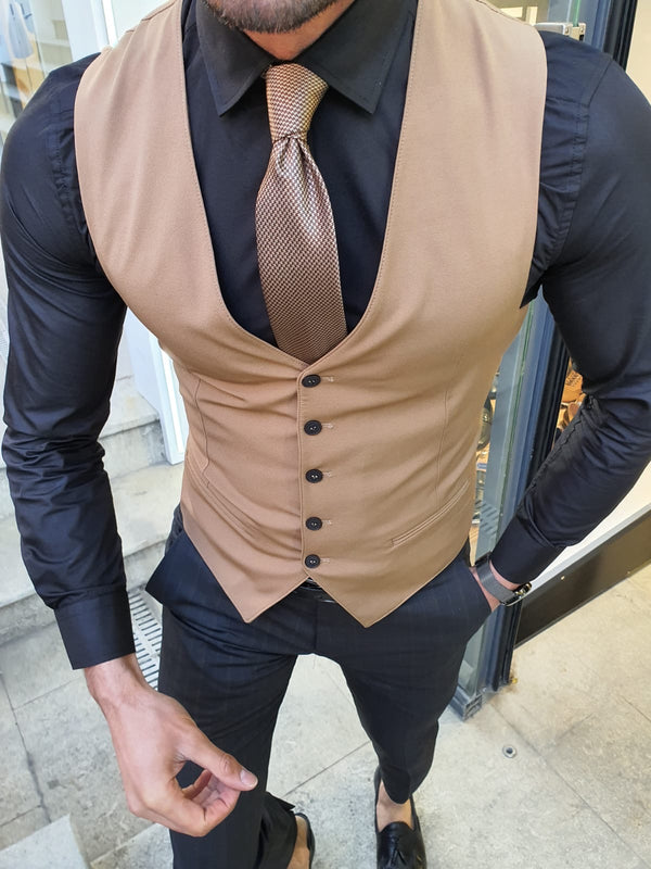 Black & Camel Suit