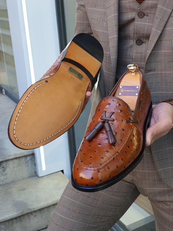 Tan Drop Pattern Shoes