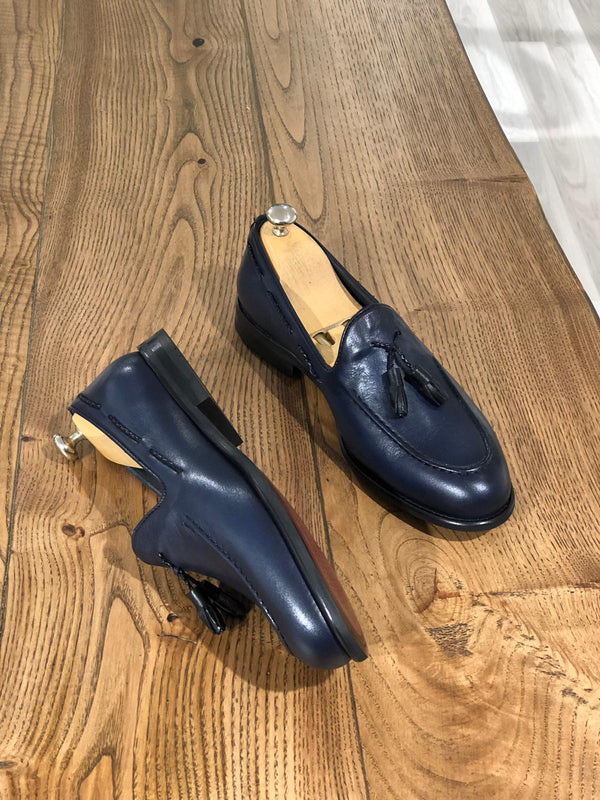 Navy Blue Loafer Shoes