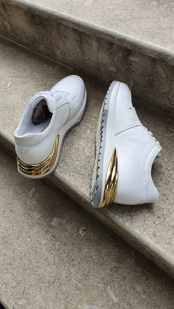Gold & White Sneakers