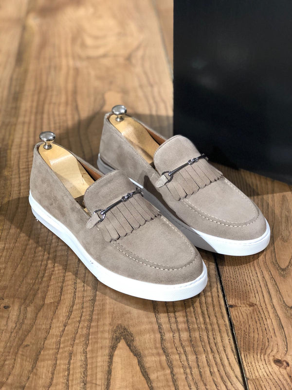 Suede Calf-Leather Shoes