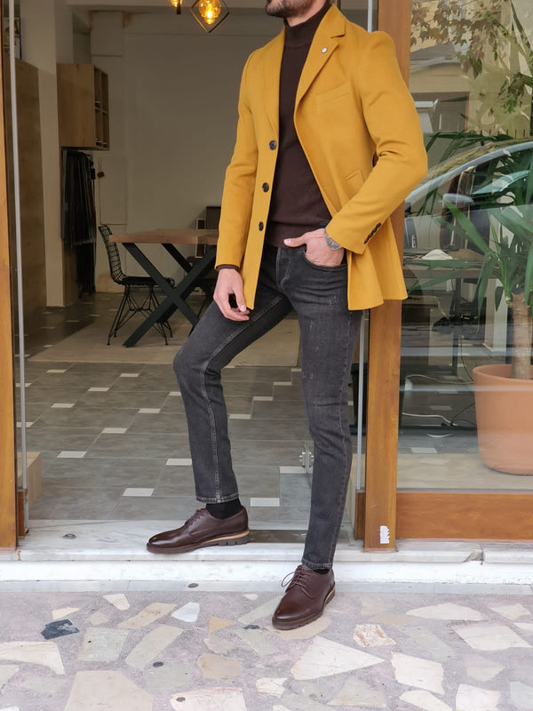 Yellow Wool Coat