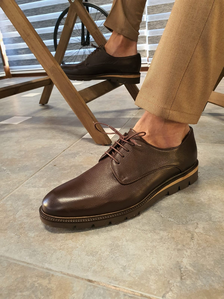 Brown Calf Leather Shoes