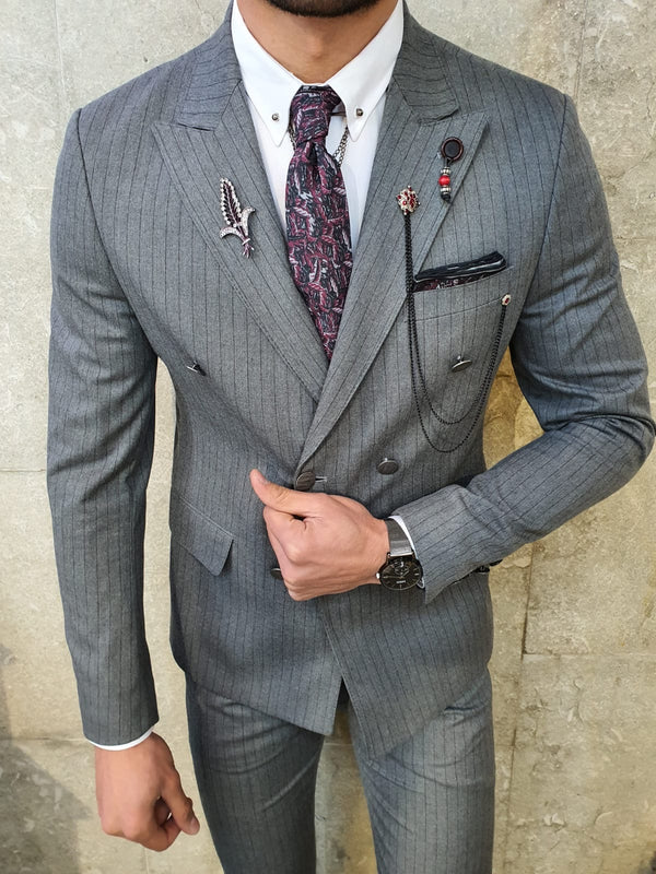 Striped Gray Suit