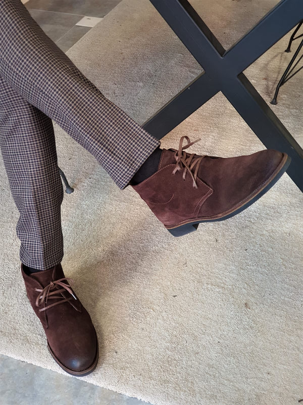 Brown Suede Leather Shoes