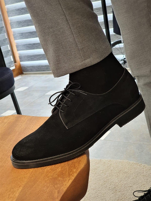 Black Suede Leather Shoes