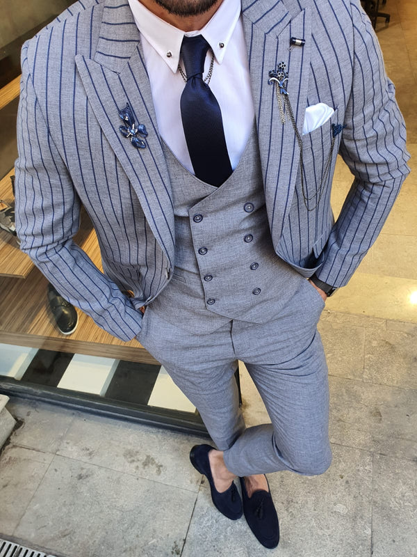 Gray & Navy Suit