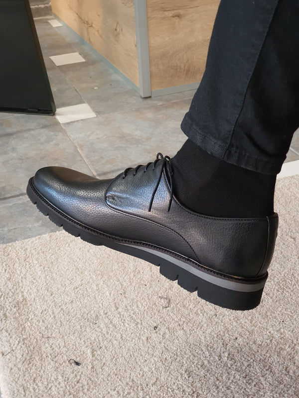 Black Calf Leather Shoes