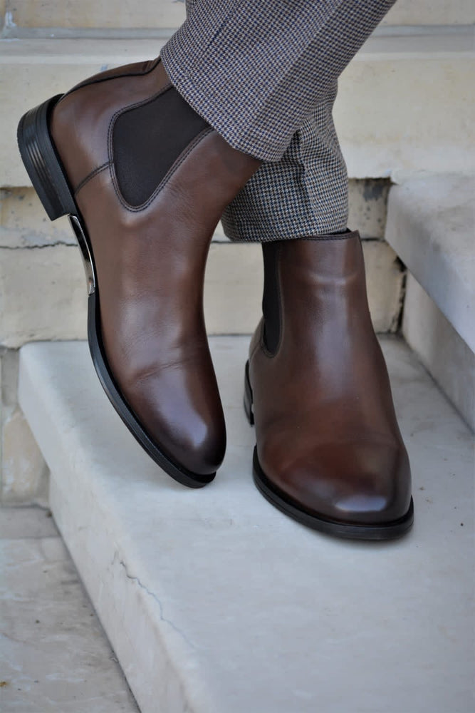 Brown Chelsea Shoes