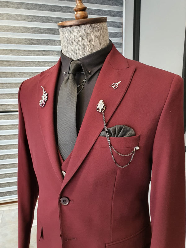 Claret Red Bistrech Suit