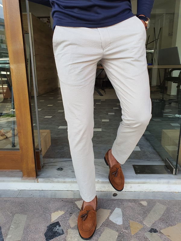 Ecru Cotton Pants