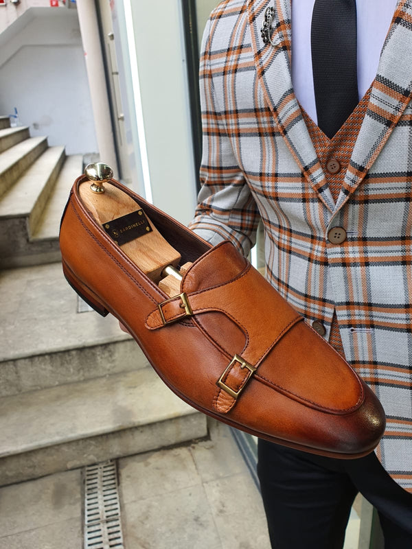 Tan Buckle Shoes