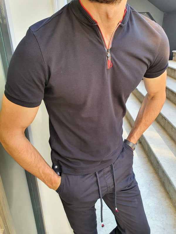Black Zipper T-Shirt