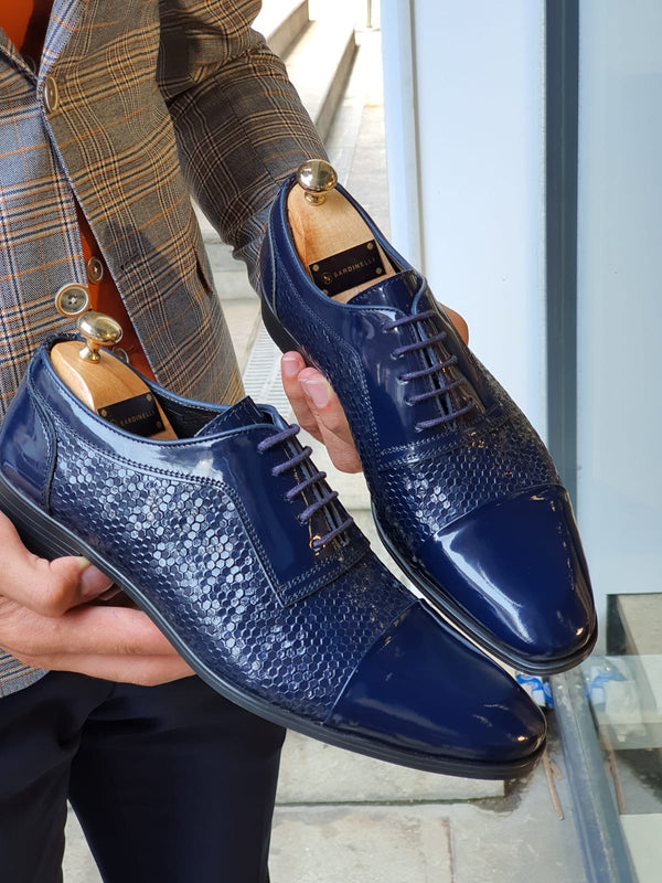 Navy Classic Leather Shoes