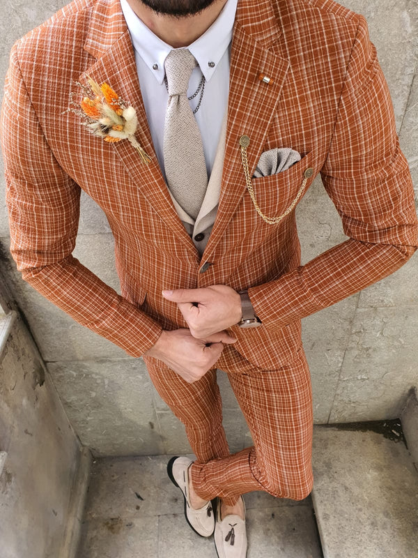 Orange Striped Suit