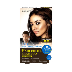 Magic Hair Color Shampoo | Hair by Nicka K - DARK BROWN HLSM03