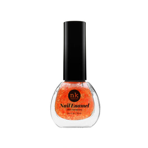 Nail Enamel | Nails by Nicka K - 051 NEON GLITTER ORANGE