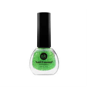 Nail Enamel | Nails by Nicka K - 097 NEON GLITTER GREEN