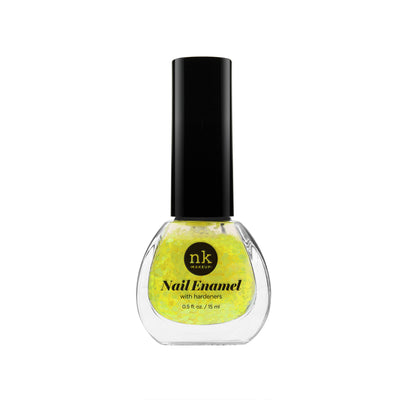 Nail Enamel | Nails by Nicka K - 099 NEON GLITTER YELLOW