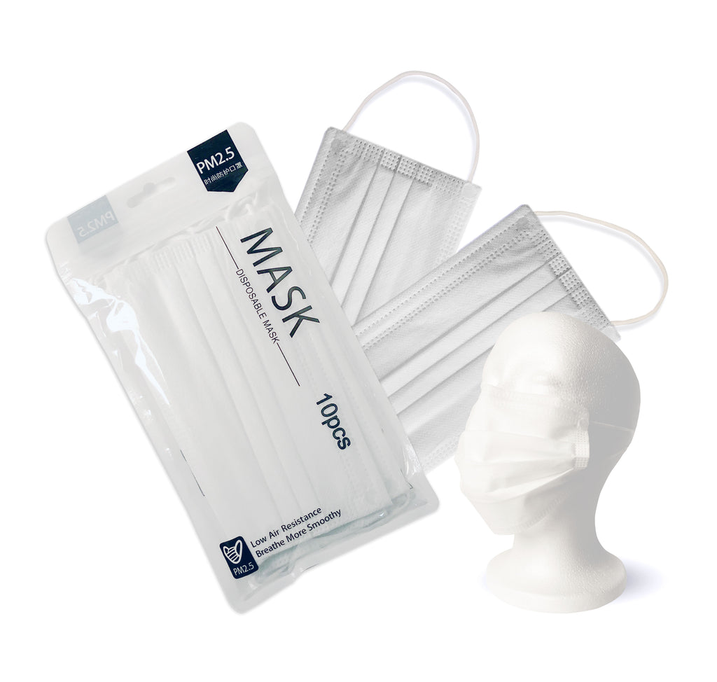 4-LAYER DISPOSABLE FACE MASKS (PACK OF 10)