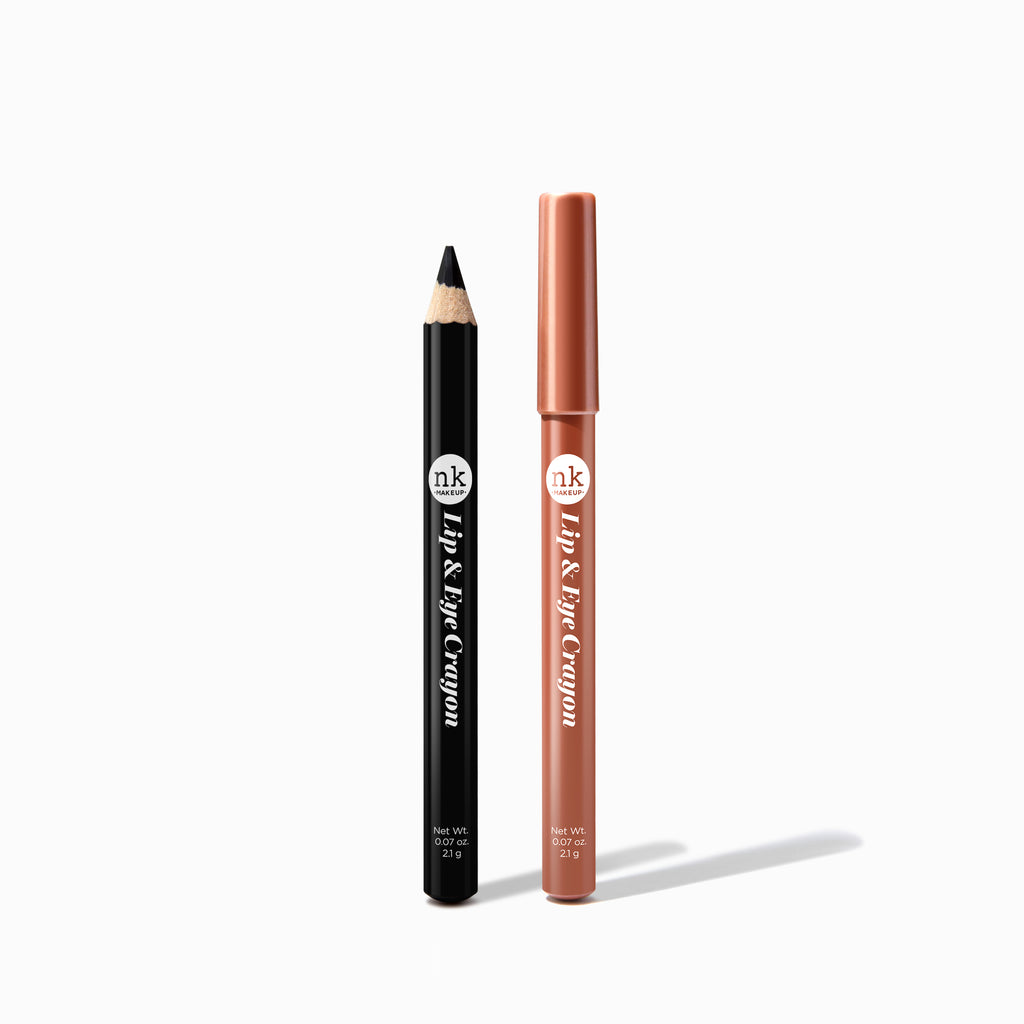 LIP & EYE CRAYON BLACK & ROSE GOLD