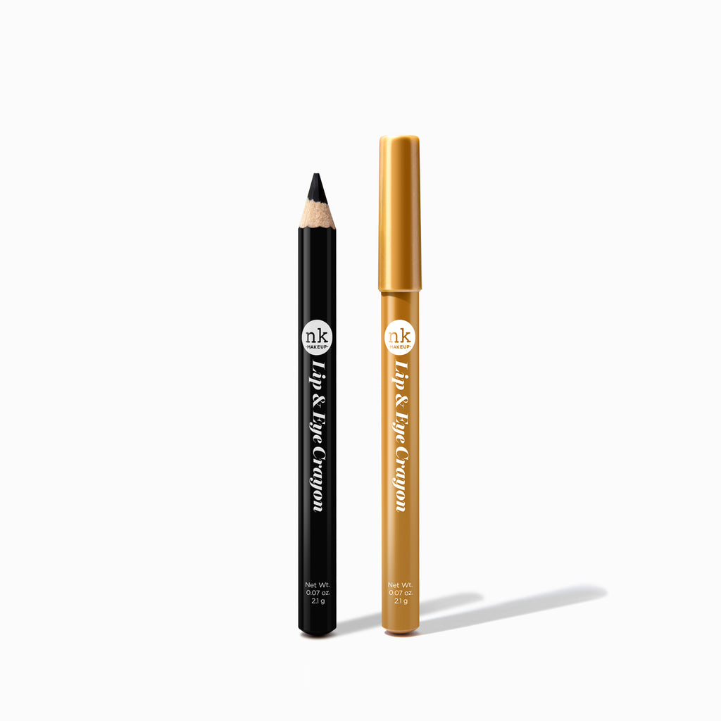 LIP & EYE CRAYON BLACK & GOLD