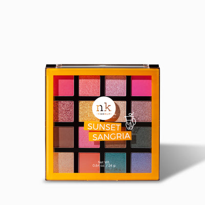 Sixteen Color Palette | Eyes by Nicka K - SUNSET SANGRIA ES1601