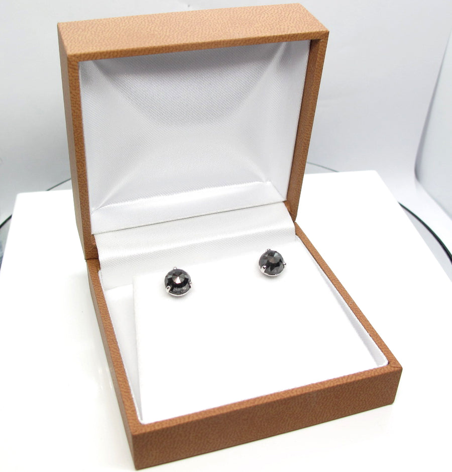 Black Diamond Studs 3.64 carats