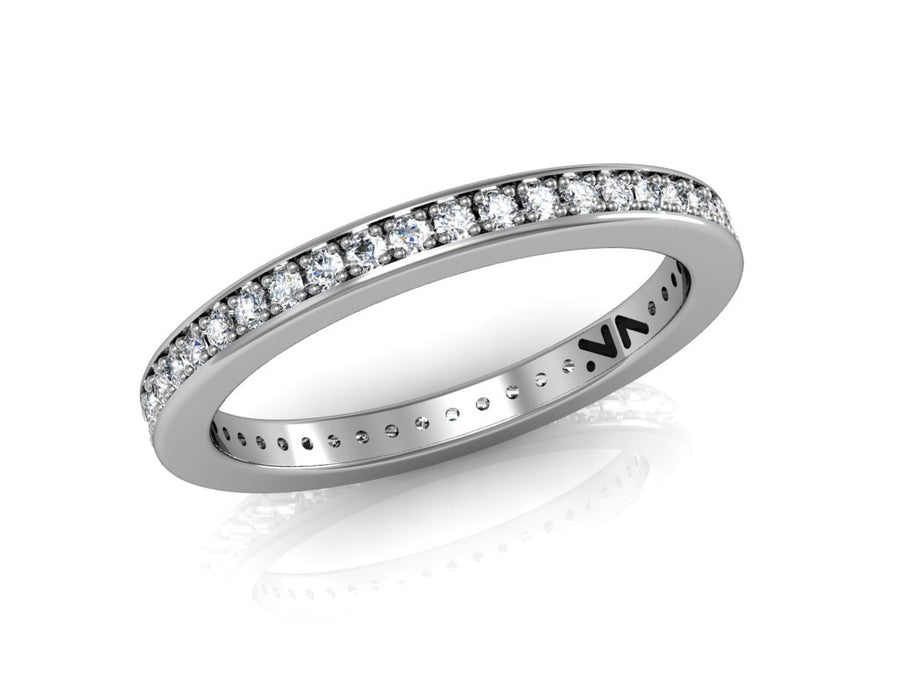 Diamond Eternity band with 45 diamonds at .35 carats 14k white gold