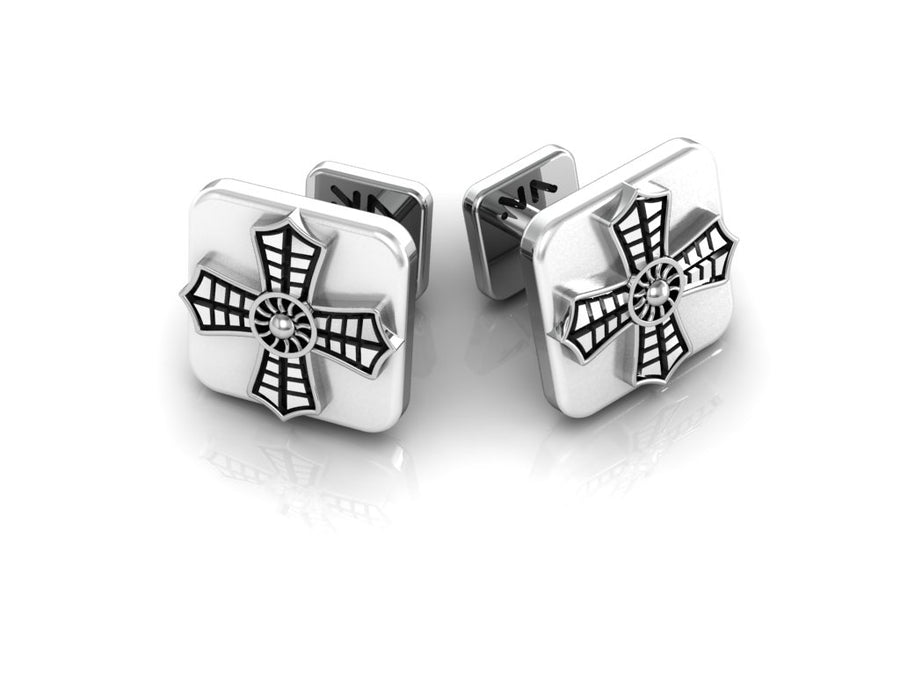 Aerial Cross Cuff Links