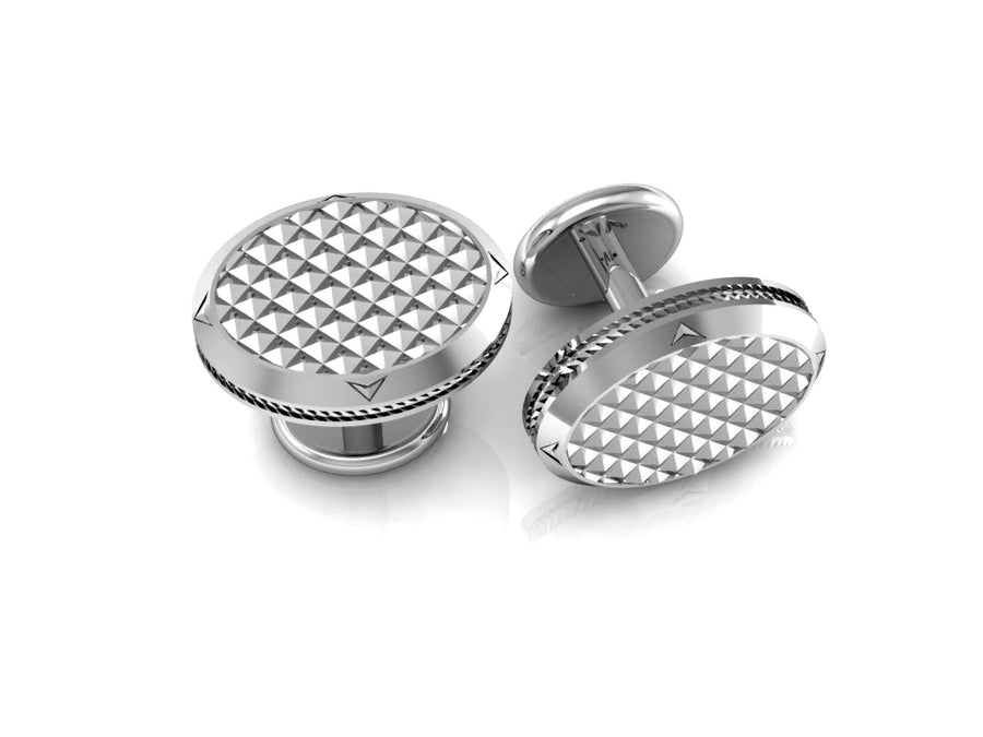 Crystal Cut Cuff Links