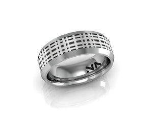 Plaid Texture Ring, Size 10