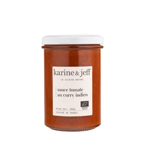Sauce tomate curry indienne bio - 200g