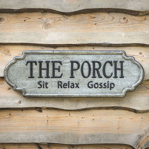 Metal Sign- The Porch