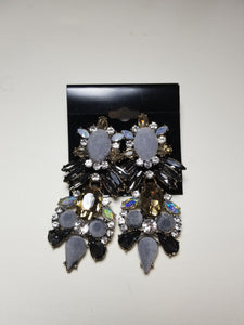 K'Lynn Gray Suede Dangle Earrings