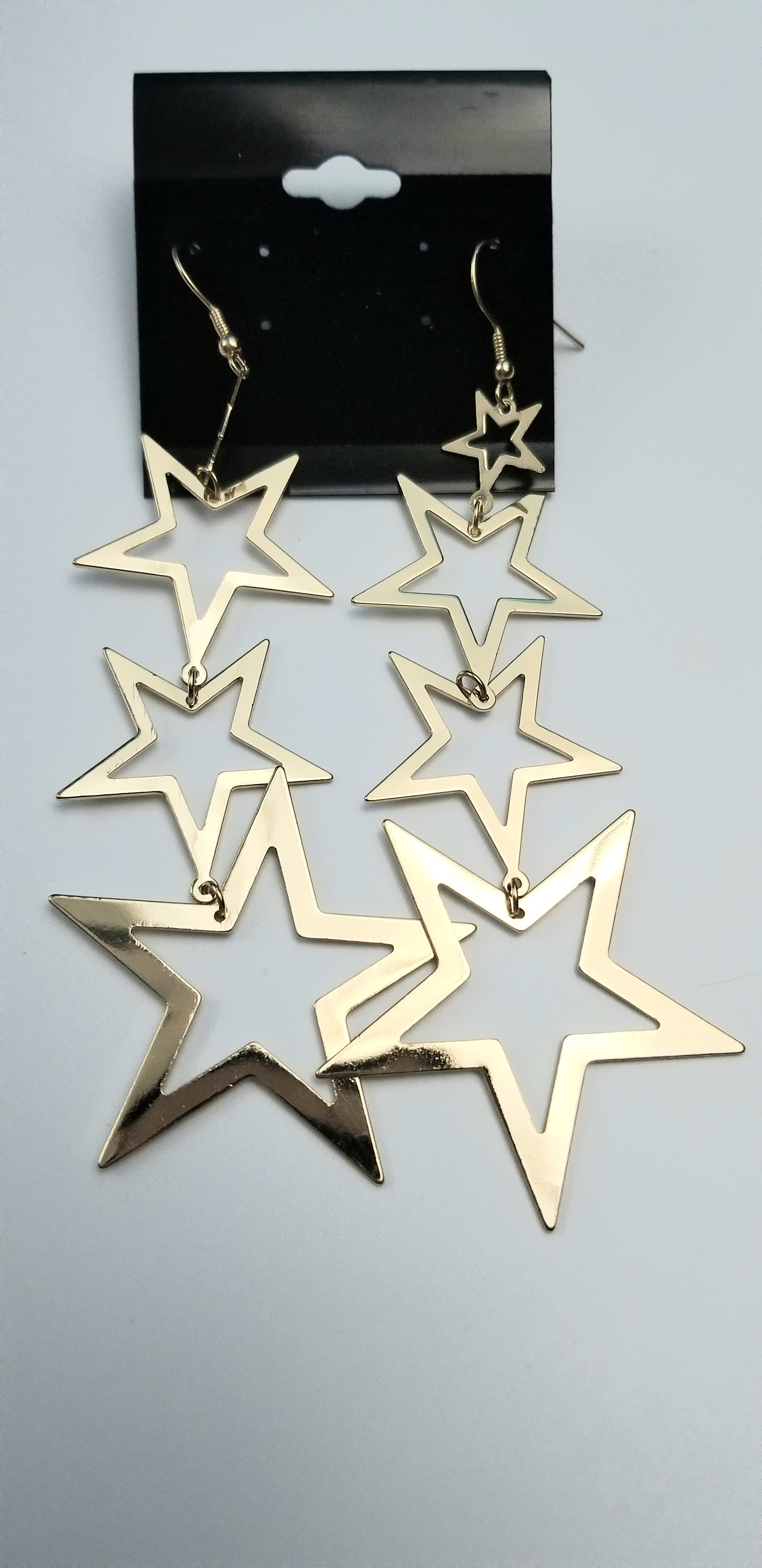 Kelis Gold Star Dangles