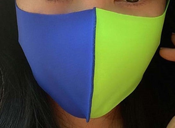 Blue and Lime Green Mask