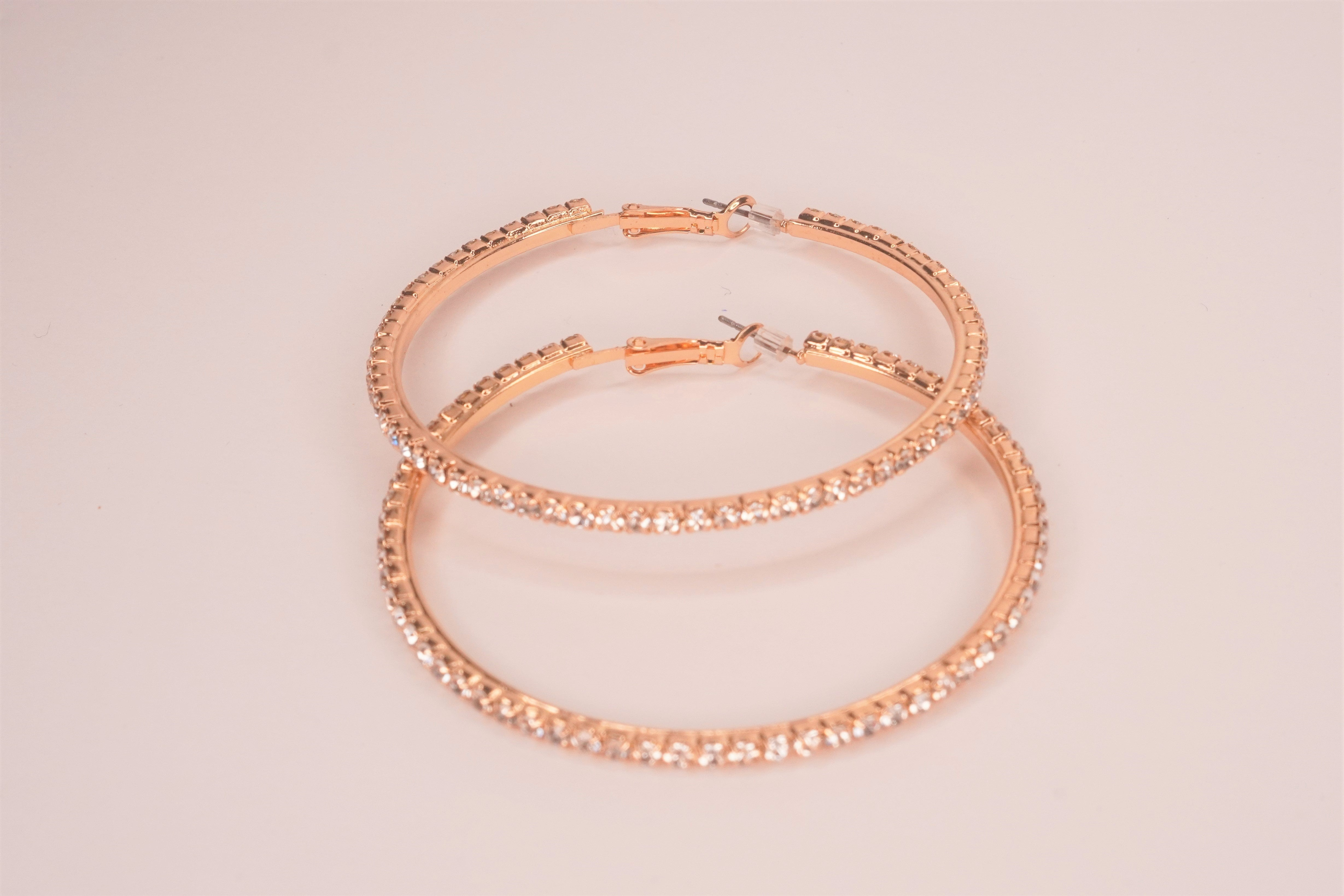 KAY Gold Studded Hoop