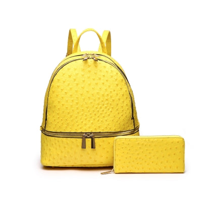Karmen Mustard 2-in 1 Backpack and Wallet