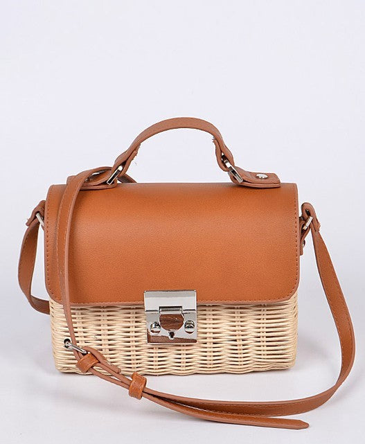 Kyra Straw Crossbody