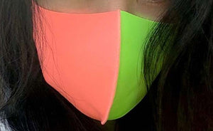 Coral and Lime Green Mask