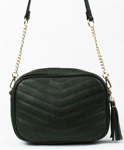 Kiarra Hunter Green Quilted Crossbody