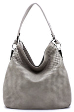 Kiana Light Grey Mesh Shoulder
