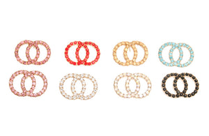 Krstal Multi-Colored Infinity Stud Earrings