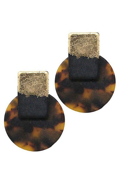 Karita Animal Print Post Earrings
